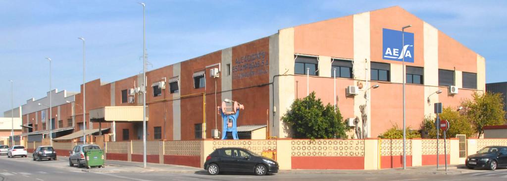 Plant of Aleaciones Estamapadas S.A. - AESA in Catarroja - Valencia - Spain
