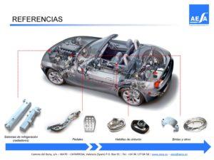 Aluminium forging parts for Automotive