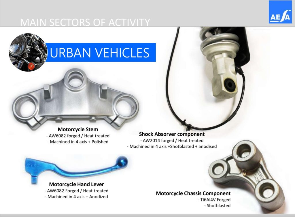 Urban Vehicles parts manufactured in AESA